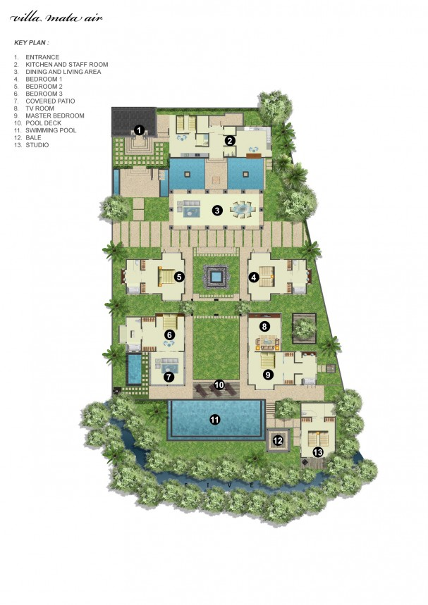Villa Mata Air Floor Plan