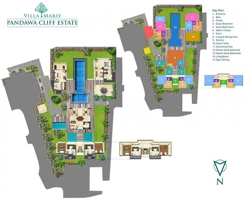 Villa Marie in Pandawa Cliff Estate Floor Plan